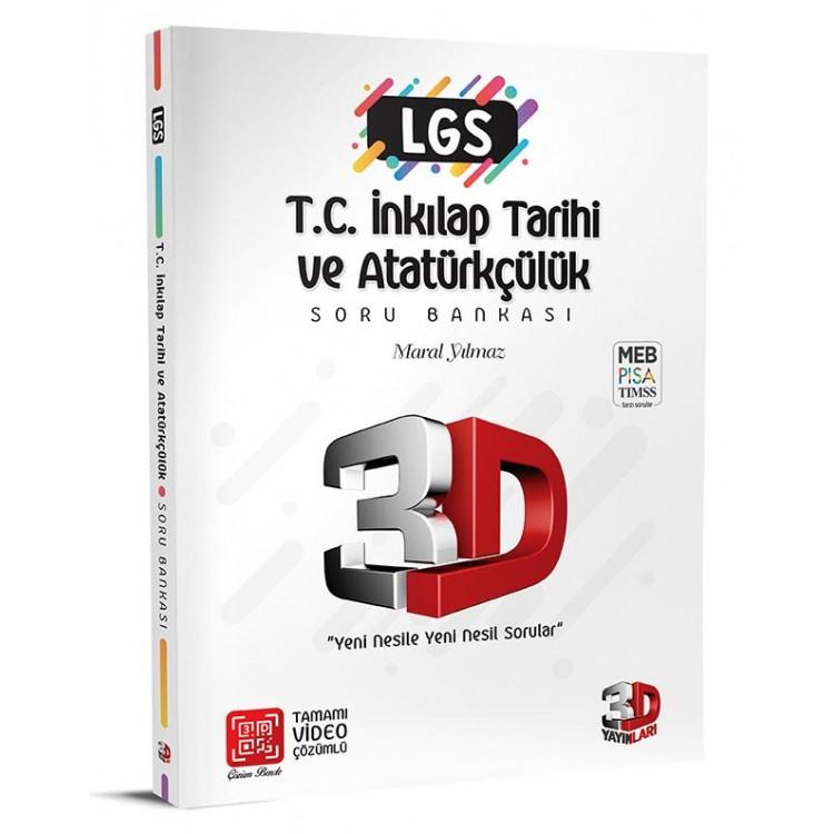 3D Yayınları 8. Sınıf LGS T.C. İnkılap Tarihi ve Atatürkçülük Soru Bankası Tamamı Video Çözümlü