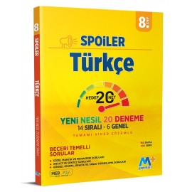 Martı Yayınları 8. Sınıf Spoiler Türkçe Denemeleri Yeni Nesil 20 Deneme