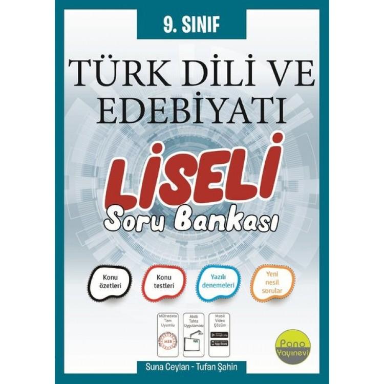 Pano Yayınları 9. Sınıf Türk Dili ve Edebiyatı Liseli Soru Bankası