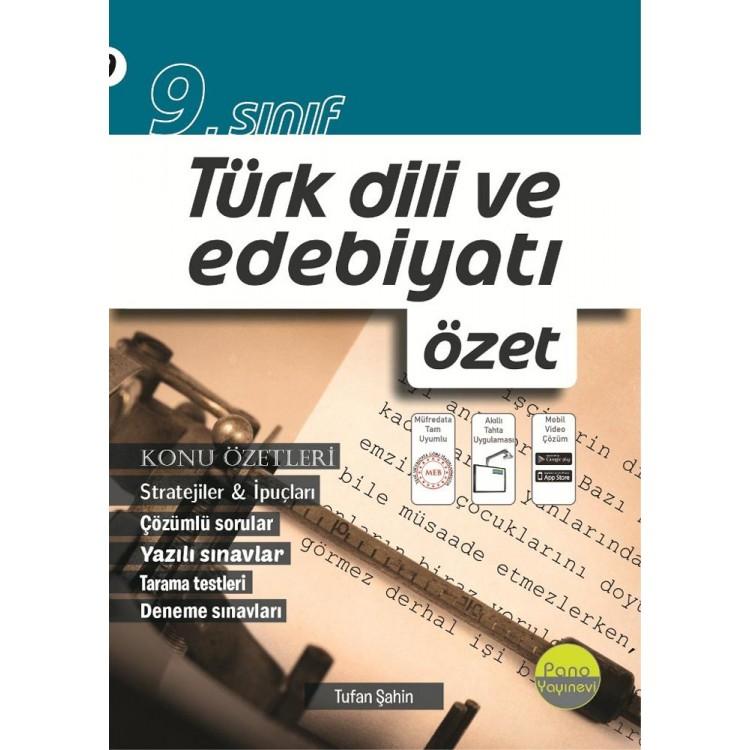 Pano Yayınları 9. Sınıf Türk Dili ve Edebiyatı Özet