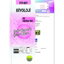 Pano Yayınları TYT AYT Biyoloji Yaprak Testleri Çek Kopart 48 Adet