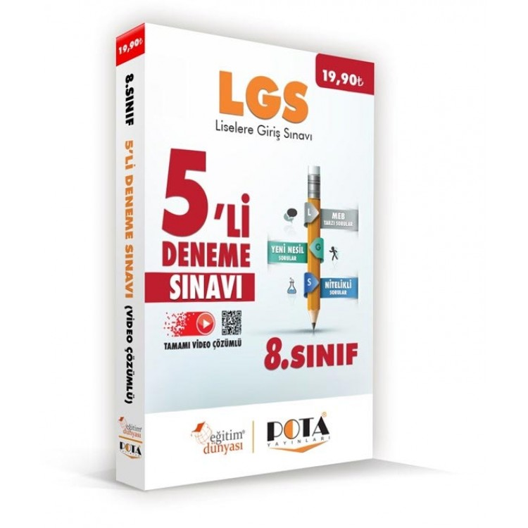 Eğitim Dünyası LGS 5'li Deneme Kitabı