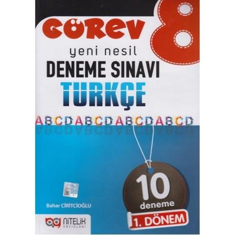 Nitelik Yayınları 8. Sınıf LGS 1. Dönem Türkçe Görev 10 Deneme