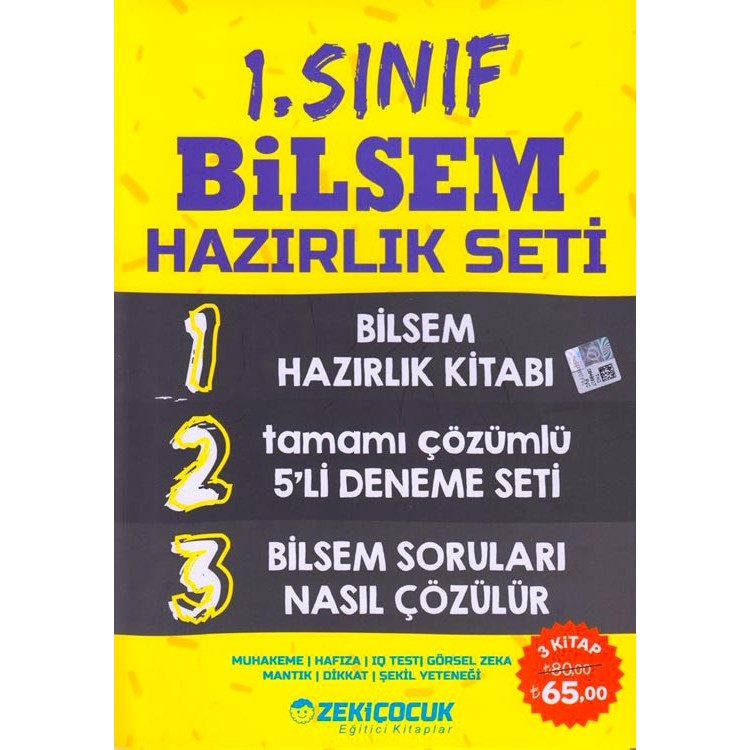 Zeki Çocuk Yayınları 1. Sınıf BİLSEM Hazırlık Seti