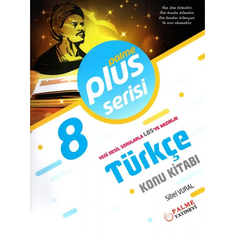 Palme Yayınları 8. Sınıf Plus Serisi Türkçe Konu Kitabı