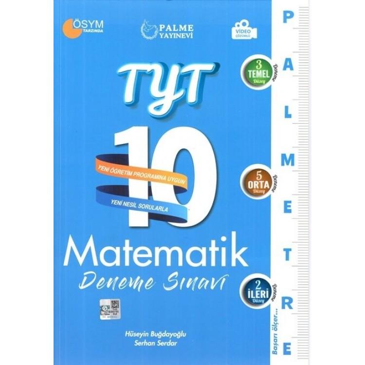 Palme Yayınları TYT Matematik Palmetre 10 Deneme Sınavı Video Çözümlü