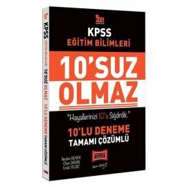 Yargı Yayınları 2021 KPSS Eğitim Bilimleri 10'suz Olmaz Tamamı Çözümlü 10 Deneme