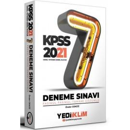 Yediiklim Yayınları 2021 Kpss Genel Yetenek Genel Kültür Tamamı Çözümlü Fasikül 7 Deneme Sınavı