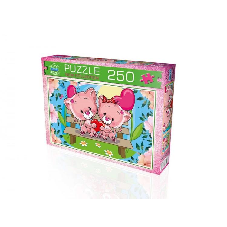 Laço Kids 250 Parça Pembe Ayıcıklar Puzzle 34 x 48cm