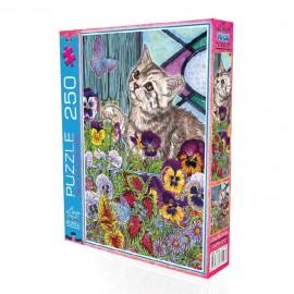 Laço Kids 250 Parça Sevimli Kedi Puzzle 34 x 48cm