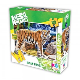 Animal Planet Amazing Tiger 100 Parça Puzzle 34x24 cm