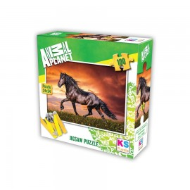 Animal Planet Black Beauty 100 Parça Puzzle 34x24 cm