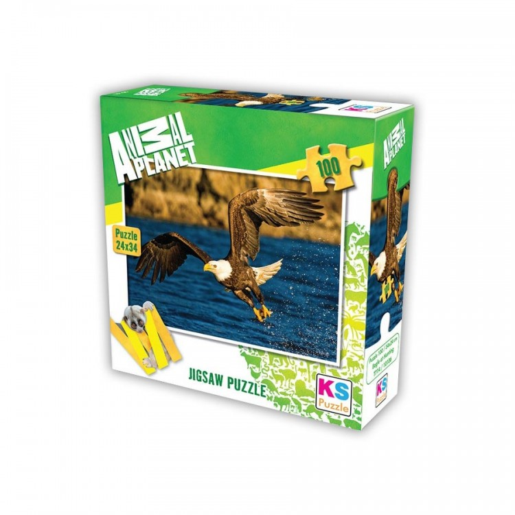 Animal Planet Eagle at Hunting 100 Parça Puzzle 34x24 cm
