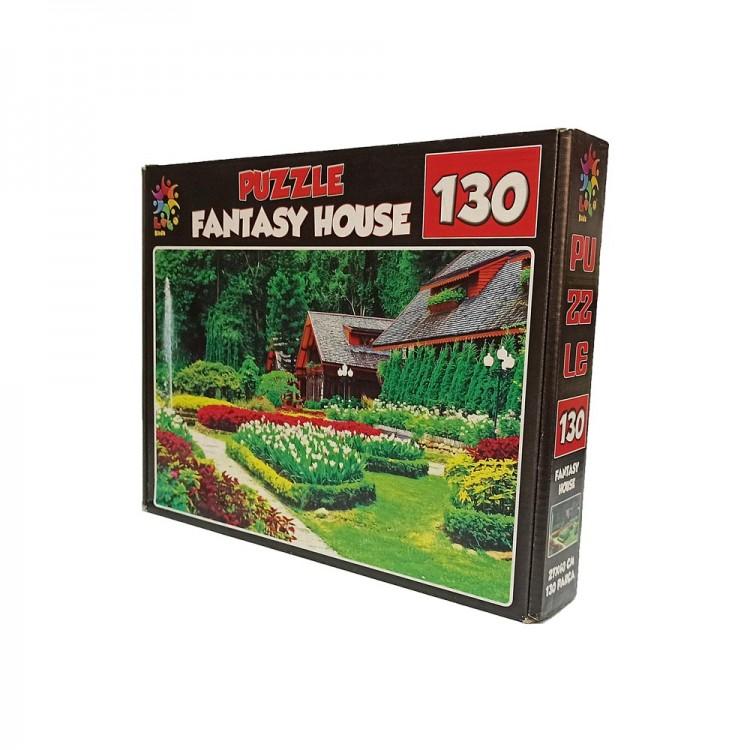 Laço Kids Puzzle Fantasy House (130 Parça)