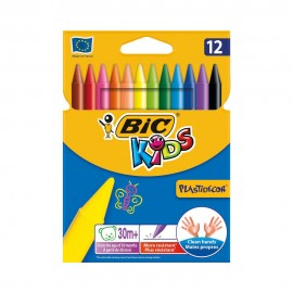Bic Kids Plastidecor 12 Renk Silinebilir Pastel Boya