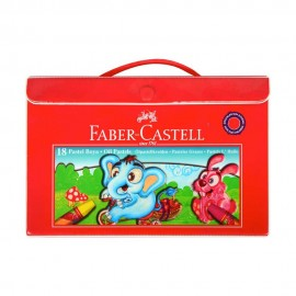 Faber-Castell Plastik Çantalı Pastel Boya 18 Renk