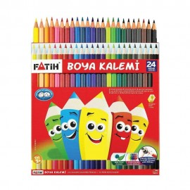 Fatih Kuru Boya Karton Kutu 24 Renk