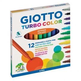 Giotto Turbo Color Keçeli Kalem 12 Renk
