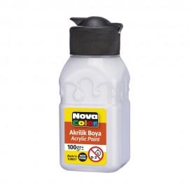 Nova Color Akrilik Boya 100 gr NC-2014 Beyaz
