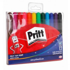 Pritt Jumbo Keçeli Kalem 12 Renk