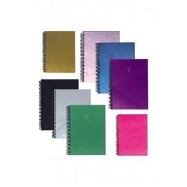 Keskin Color Metalik Spiralli Sert Kapak Defter Çizgisiz 17x24cm
