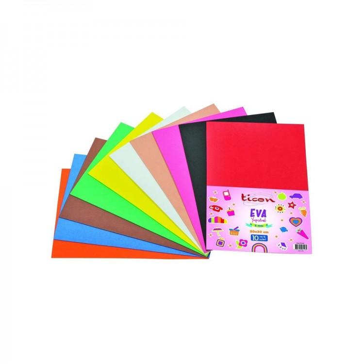Ticon Eva Yapışkanlı 20x30cm 2mm 10 Farklı Renk