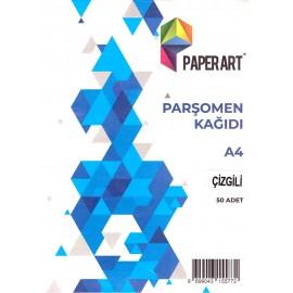 Paperart A4 Çizgili Parşomen Kağıdı 50 Adet