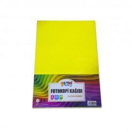 Puti A4 Renkli Fosforlu Fotokopi Kağıdı 5Renk 100'lü Paket