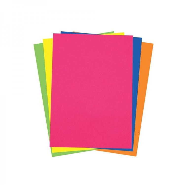 Renkli Fosforlu Fon Kartonu 50x70 cm
