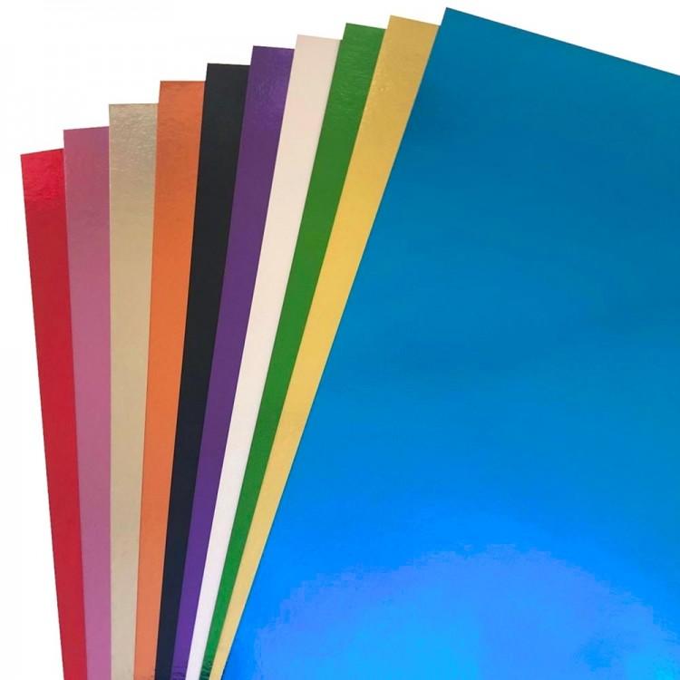 Renkli Metalik Fon Kartonu 50x70 cm