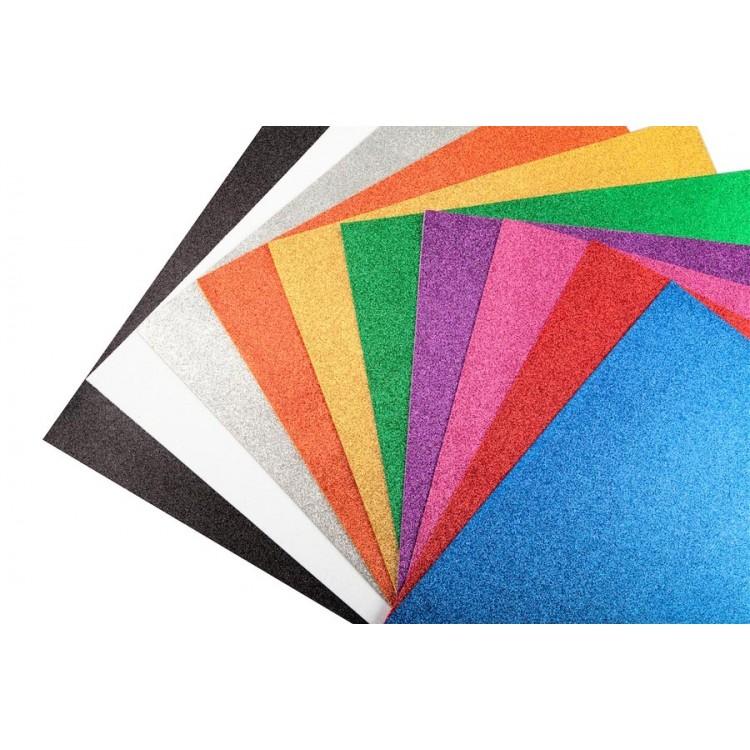 Renkli Simli Fon Kartonu 50x70 cm