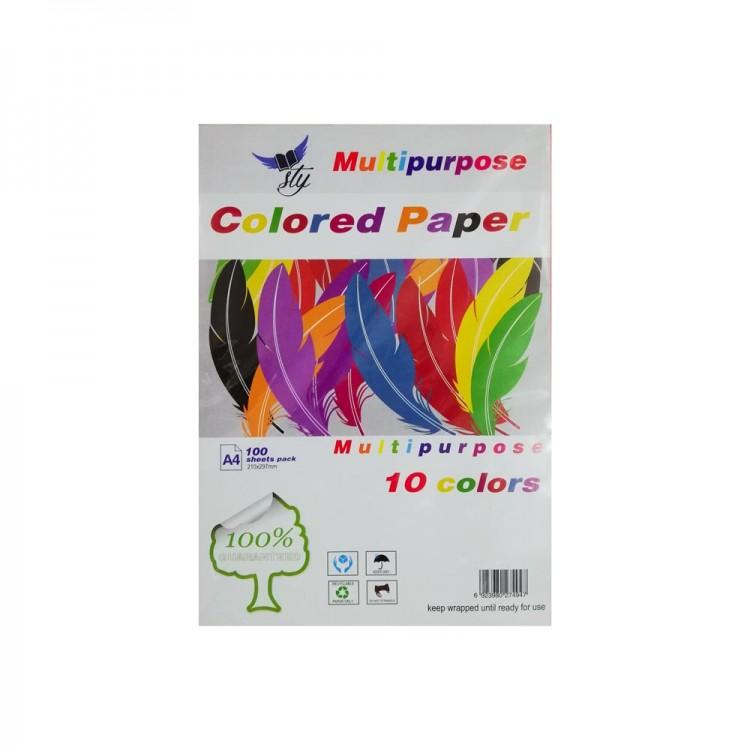 Sly A4 Renkli Fotokopi Kağıdı 100'lü Paket