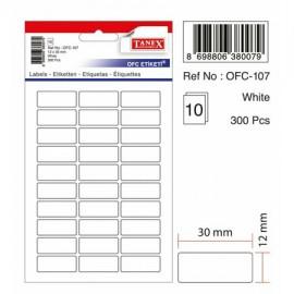 Tanex OFC Etiketi Beyaz OFC-107