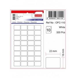 Tanex OFC Etiketi Beyaz OFC-110