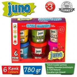Juno Oyun Hamuru 6 Renk 780 gr JUN-2006