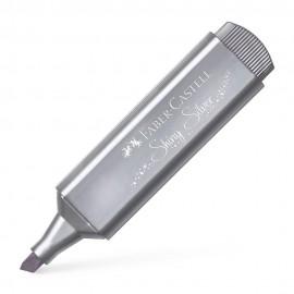 Faber-Castell Fosforlu Kalem Metalik Parlak Gümüş
