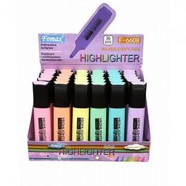 Fomax Highlighter Pastel Fosforlu Kalem F-6608