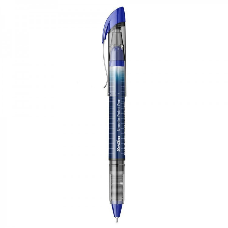Scrikss Needle Point Roller Pilot Kalem 0.5mm Mavi NP-68