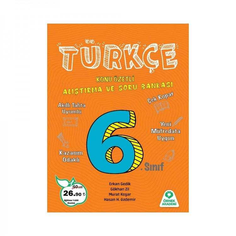 Örnek Akademi 6. Sınıf Türkçe Alıştırma ve Soru Bankası