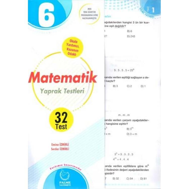 Palme Yayınları 6. Sınıf Matematik Yaprak Test
