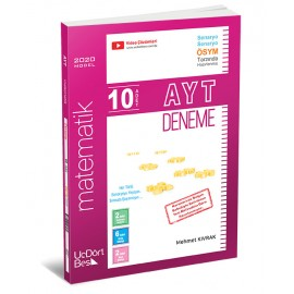 ÜçDörtBeş Yayınları AYT Matematik 10'lu Deneme