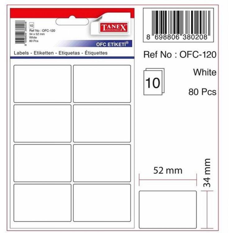 Tanex OFC Premium Etiketi Beyaz OFC-120